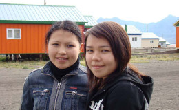 Senior students Vika Yatta and Sasha Tagitutkak
