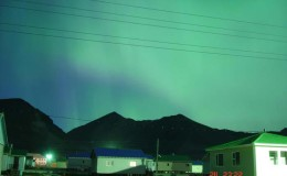 Aurora Borealis above New Chaplino