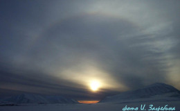 Halo above Easthead lake