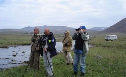 International collaboration. Ornithologist from Russia and Sweden
